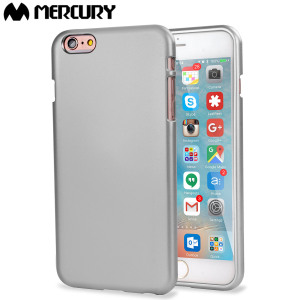 Funda iPhone 6S Plus / 6 Plus Mercury iJelly Gel - Plata Metalizado