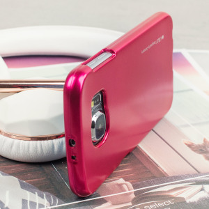 A premium gel case for your Galaxy S6. The Mercury Goospery features a superb metallic hot pink gloss UV finish and robust high quality TPU gel material that will take all the knocks and look fabulous while doing so.