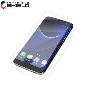 Perfecto para cubrir tanto la parte delantera como trasera de su Samsung Galaxy S7 Edge. Este protector de pantalla InvisibleShield HD incluye también otro protector trasero.