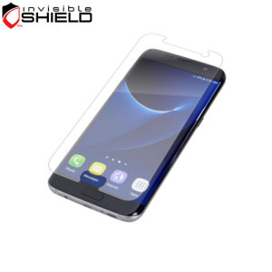 The precision pre-cut case friendly InvisibleShield original screen protector applies directly to the front of your Samsung Galaxy S7 Edge for advanced clarity and a glass-like surface.