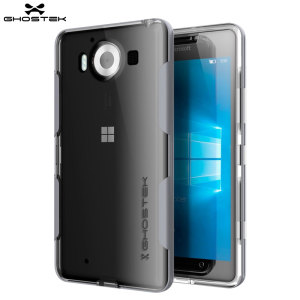 The Cloak Protective case in silver and clear from Ghostek comes complete with a tough tempered glass screen protector to provide your Microsoft Lumia 950 with fantastic all round protection.