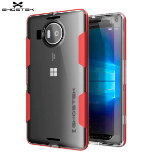 The Cloak Protective bumper case in red and clear from Ghostek comes complete with a tough tempered glass screen protector to provide your Microsoft Lumia 950 XL with fantastic all round protection.