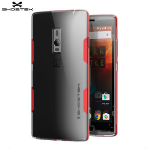 Funda OnePlus 2 Ghostek Cloak - Transparente / Roja