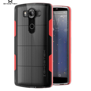 The Cloak Protective case in red and clear from Ghostek comes complete with a tough tempered glass screen protector to provide your LG V10 with fantastic all round protection.