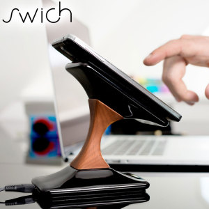 SWICH Premium Genuine Wooden Wireless Smartphone Charging Stand