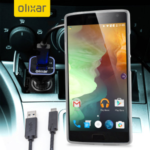 Keep your OnePlus 2 fully charged on the road with this compatible Olixar high power dual USB 3.1A Car Charger with an included high quality USB to USB-C charging cable.