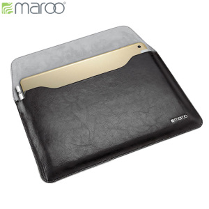 Protect your iPad Pro 12.9 2015 with this premium genuine leather sleeve in black with stylus holder for your Apple Pencil and a magnetic closure from Maroo.