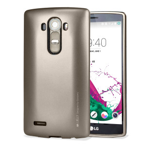 Coque LG G4 Mercury Goospery iJelly – Or Métallique