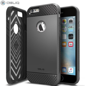 The Obliq Flex Pro Shell Case in black is a stylish and ergonomic protective case for the iPhone 6S Plus / 6 Plus, providing impact absorption and fantastic grip due to the textured surface.