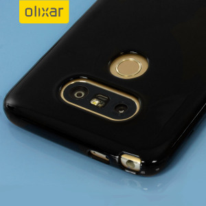 Custom moulded for the LG G5 this solid black FlexiShield case by Olixar provides slim fitting and durable protection against damage.