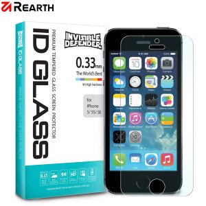 Rearth ID Glass 9H Tempered Glas Displayschutz ist speziell für das iPhone SE geeignet.