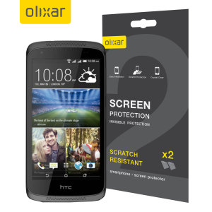 Keep your HTC Desire 526 screen in pristine condition with this Olixar scratch-resistant screen protector 2-in-1 pack.