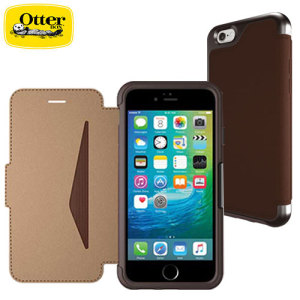 A sophisticated lightweight saddle brown genuine leather case, the OtterBox genuine leather wallet cover offers perfect protection for your iPhone 6S / 6, as well as featuring slots for your cards, cash and documents.