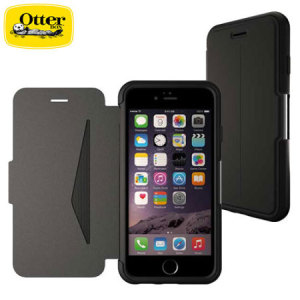 A sophisticated lightweight black genuine leather case, the OtterBox genuine leather wallet cover offers perfect protection for your iPhone 6S Plus / 6 Plus, as well as featuring slots for your cards, cash and documents.