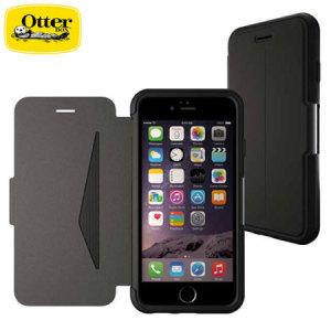 Protección ligera y sofisticada construida con cuero auténtico de alta calidad, la funda OtterBox Strada ofrece además ranuras para almacenar tarjetas y/o documentos, todo ello mientras protege su iPhone 6S Plus / 6 Plus.