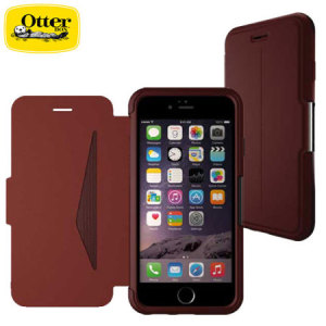 A sophisticated lightweight maroon genuine leather case, the OtterBox genuine leather wallet cover offers perfect protection for your iPhone 6S Plus / 6 Plus, as well as featuring slots for your cards, cash and documents.