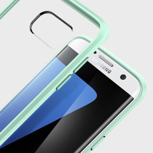 Protect the back and sides of your Samsung Galaxy S7 Edge without affecting the dynamics of the design with this mint, Ultra Hybrid case from Spigen.