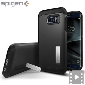 Coque Samsung Galaxy S7 Edge Spigen Tough Armor - Noire