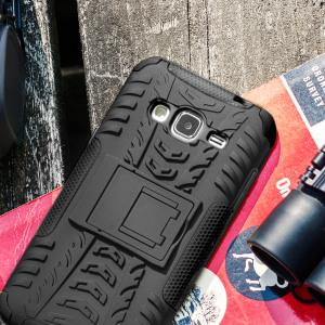 Beskytt din Samsung Galaxy J3 2016 mot støtskader og riper med dekslet ArmourDillo. Bestående av et indre TPU-deksel og et ytre støttåelig skjelett, gir Armourdillo ikke bare et stabilt og robust beskyttelse men også en stilig og moderne design.