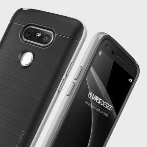 Proteja su LG G5 con esta funda diseñada de forma precisa por VRS Design. Fabricada con doble capa de protección, aún sigue manteniendo un perfíl delgado y dispone de un acabado en dos tonos.
