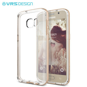 Protect your Samsung Galaxy S7 with this precisely designed crystal / gold case from VRS Design. Made with a sturdy yet minimalist design, this see-through case offers protection for your phone while still revealing the beauty within.