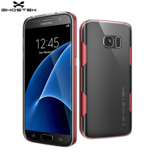 Coque Samsung Galaxy S7 Ghostek Cloak Tough – Transparent / Rouge