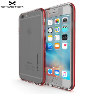 Coque iPhone 6S / 6 Ghostek Cloak Tough – Transparent / Rouge