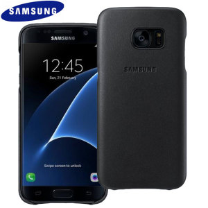 This Official Samsung Leather Cover in black is the perfect way to keep your Galaxy S7 smartphone protected from scratches and scrapes.