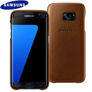 This Official Samsung Leather Cover in brown is the perfect way to keep your Galaxy S7 Edge smartphone protected from scratches and scrapes.
