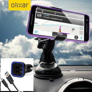 Viktiga biltillbehör som du kommer behöva för din smartphone under en bil resa.  Med Olixars DriveTime In-Car Pack får du en bilhållareoch billaddare med en extra USB-port för din Nexus 6P.