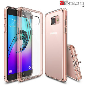 Protect the back and sides of your Samsung Galaxy A5 2016 with this incredibly durable, rose gold and crystal clear backed Fusion Case by Ringke. The clear design perfectly highlights the A5's stunning design whilst keeping it protected.