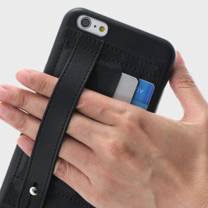 Protect your iPhone 6S Plus / 6 Plus with this elegant and luxurious eco-leather wallet case from Prodigee in black. This stylish wallet case stores your cards and also includes a hand strap with doubles as a viewing stand.