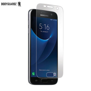 Keep your Samsung Galaxy S7 safe and secure this ultra tough screen protector from BodyGuardz which is made from the same material used to shield the front of vehicles from rock chips.