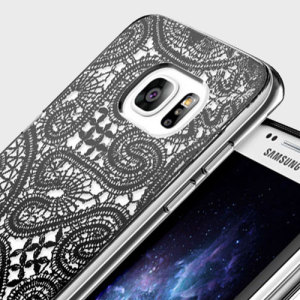 The Prodigee Scene Black Lace case features a beautiful lace design and offers excellent protection against scratches and minor impacts without adding bulk to your Samsung Galaxy S7 Edge.