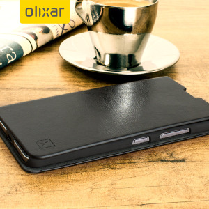 The Olixar leather-style Microsoft Lumia 650 Wallet Case in black provides enclosed protection and can also be used to hold your credit cards. The case also transforms into a viewing stand for added convenience.