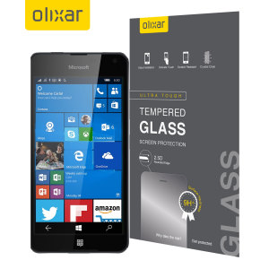 This ultra-thin tempered glass screen protector for the Microsoft Lumia 650 by Olixar offers toughness, high visibility and sensitivity all in one package.