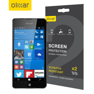 Keep your Lumia 650 screen in pristine condition with this 2 pack of Olixar scratch-resistant screen protectors.
