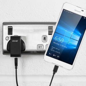 Charge your Microsoft Lumia 650 quickly and conveniently with this 2.5A high power charging kit. Featuring a mains adapter and one USB cable.