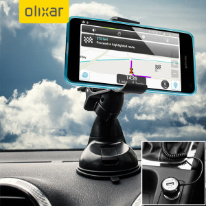 Essential items you need for your smartphone during a car journey all within the Olixar DriveTime In-Car Pack. Featuring a robust one-handed phone car mount and car charger with additional USB port for your Microsoft Lumia 650.