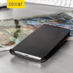 Olixar Leather-Style LG G5 Wallet Stand Case - Black