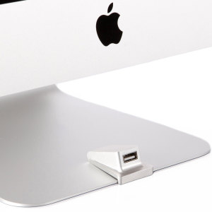 Introducing the iMacompanion from Wiplabs, the front facing USB 3.0 port for iMac. Gain front USB access and keep your desk neat and tidy, with this stylish port.