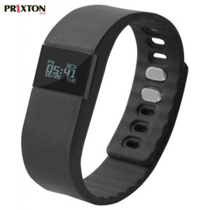 Monitor your fitness and sleep with the Prixton AT300 Smartband with OLED Display and companion app. Compatible with your Android or iOS smartphone, transfer data from your Smartband wirelessly.