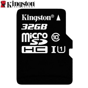 Full HD compliant Class 10 performance Micro SD Card with SD Adapter. The 32GB Kingston Digital Micro SD card safely and effectively stores all of your precious data, images, video and more.