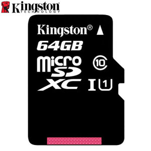 Full HD compliant Class 10 performance Micro SD Card with SD Adapter. The 64GB Kingston Digital Micro SDXC card safely and effectively stores all of your precious data, images, video and more.