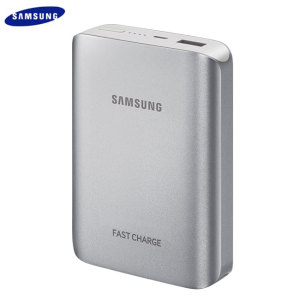 Official Samsung Portable 10,200mAh Fast Charge Battery Pack - Silver