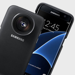 Introducing the Official Samsung Galaxy S7 Edge Lens Cover. Significantly improve your S7 Edge's photography prowess with these easy-to-attach telephoto and wide angle lenses.