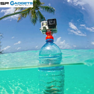 This highly portable GoPro Mount allows you to transform any plastic bottle into a floating hand grip mount. The keyring attachment allows you to keep the mount with you at all times, ready for use with just a twist of the hand.