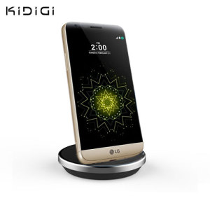 Synchronise and charge your LG G5 with this stylish and case compatible desktop dock which also acts as a multimedia stand. Supports USB-C (USB Type-C).