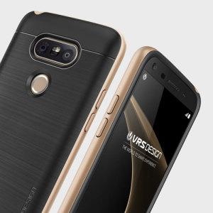 Skydda din LG G5 med detta skräddargjora skal i champagneguld från VRS. Tillverkad med ett tåligt men ändå tunnt dubbellager ger detta skal ett rubust men ändå stilfullt utseende med en attraktiv tvåtons finish.
