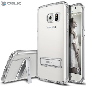 Protect the back and sides of your Samsung Galaxy S7 while preserving the sleek aesthetics with the clear bumper case from Obliq. Complete with a kickstand, the Naked Shield series allows you to stand your phone for convenient viewing.